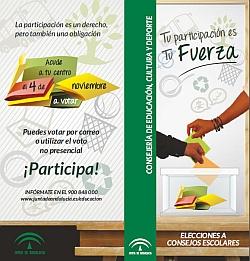 Díptico de las Elecciones al Consejo Escolar